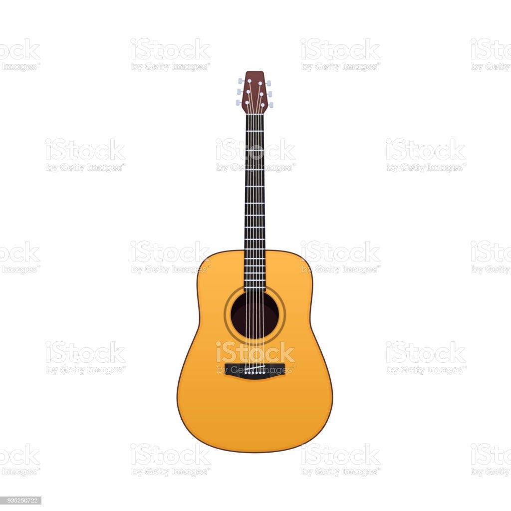 Ilustración de Guitarra De Madera Instrumento Musical De Cuerdas ...