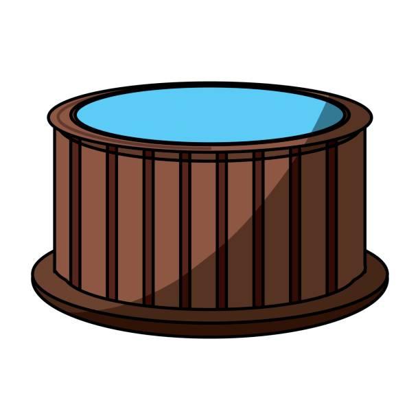 holz-whirlpool-spa - blackpool stock-grafiken, -clipart, -cartoons und -symbole