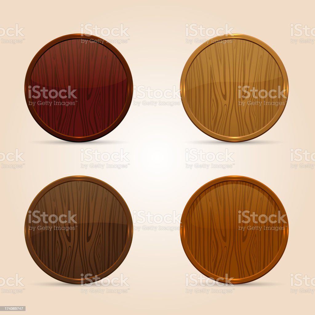 Wooden icons royalty-free wooden icons stock vector art & more images of backgrounds