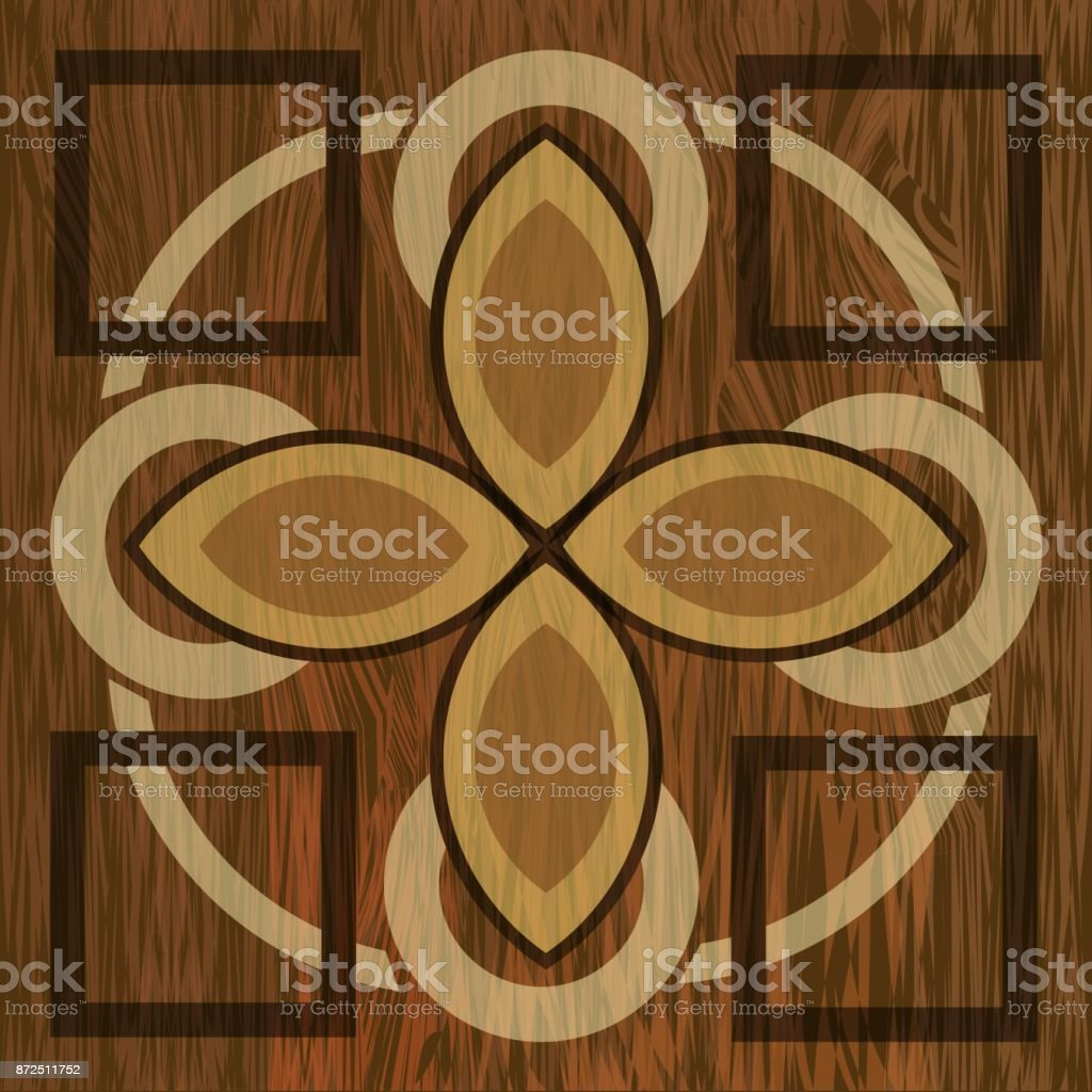 Wooden Inlay Light And Dark Wood Patterns Art Decoration Template Veneer Textured