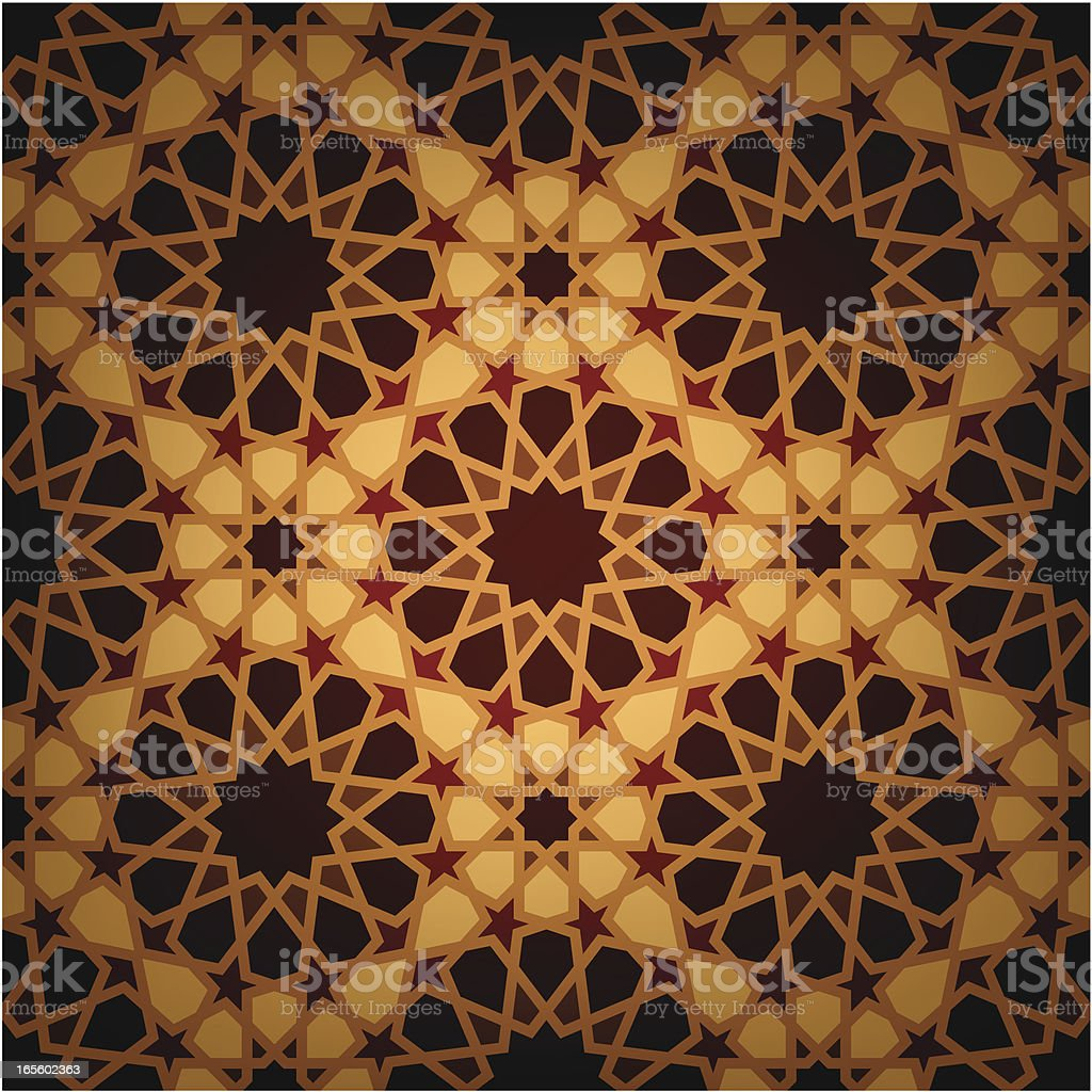 Wooden Islamic tile royalty-free wooden islamic tile stock vector art & more images of arabic style