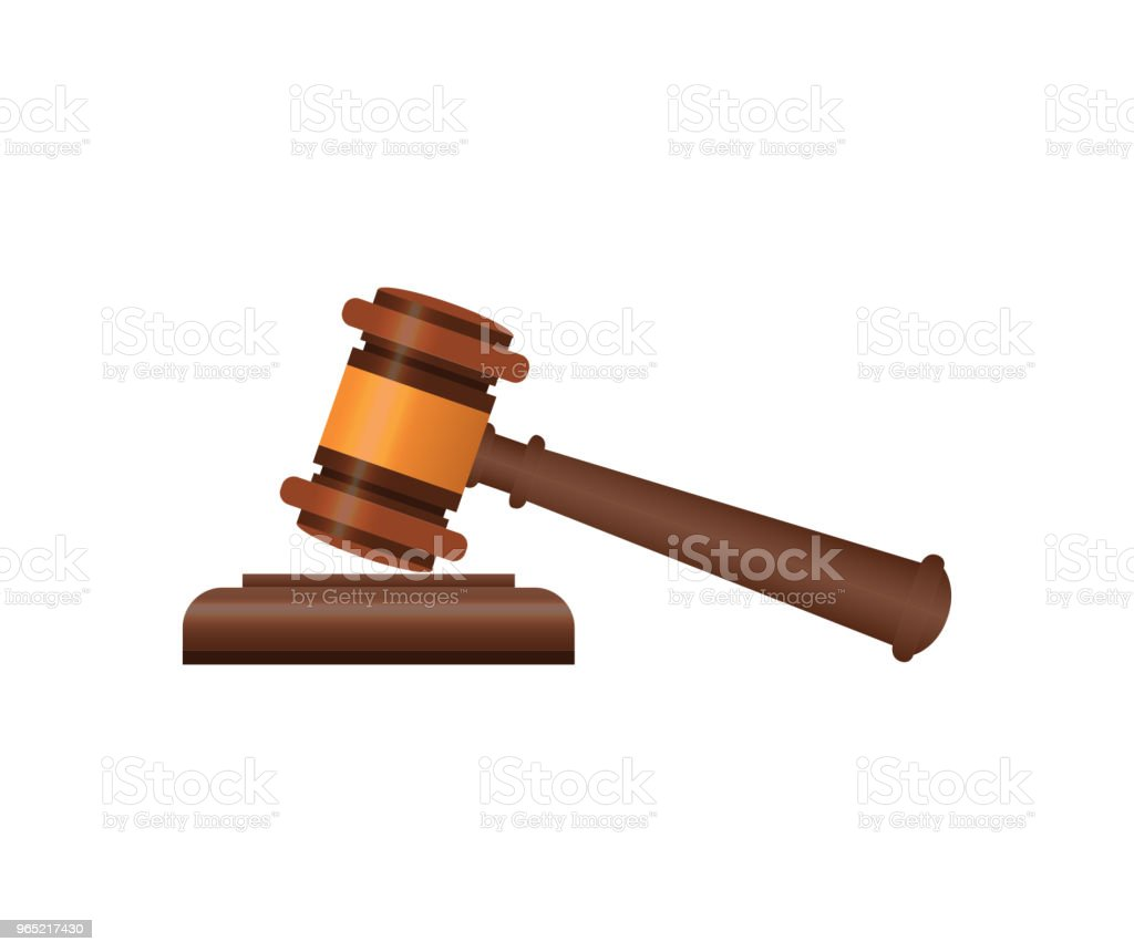 Wooden judge gavel isometric 3D elements royalty-free wooden judge gavel isometric 3d elements stock vector art & more images of agreement