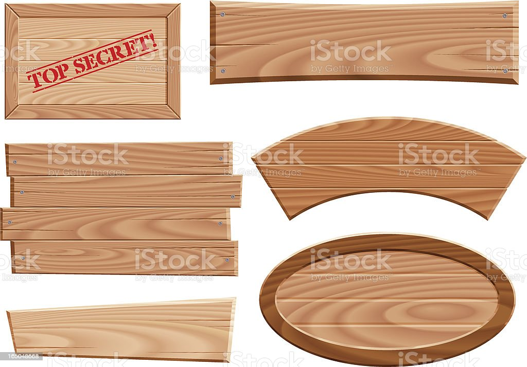 Wooden label and banners template royalty-free wooden label and banners template stock vector art & more images of backgrounds