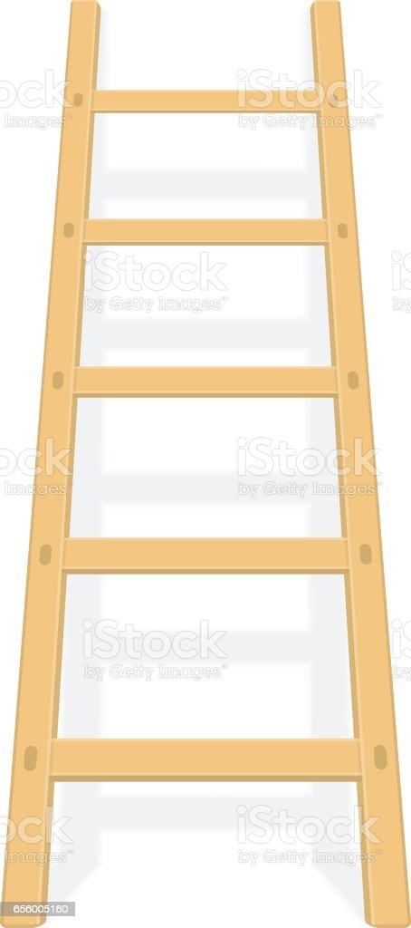 Holzleiter Mit Schattenvektor Stock Vektor Art Und Mehr Bilder Von