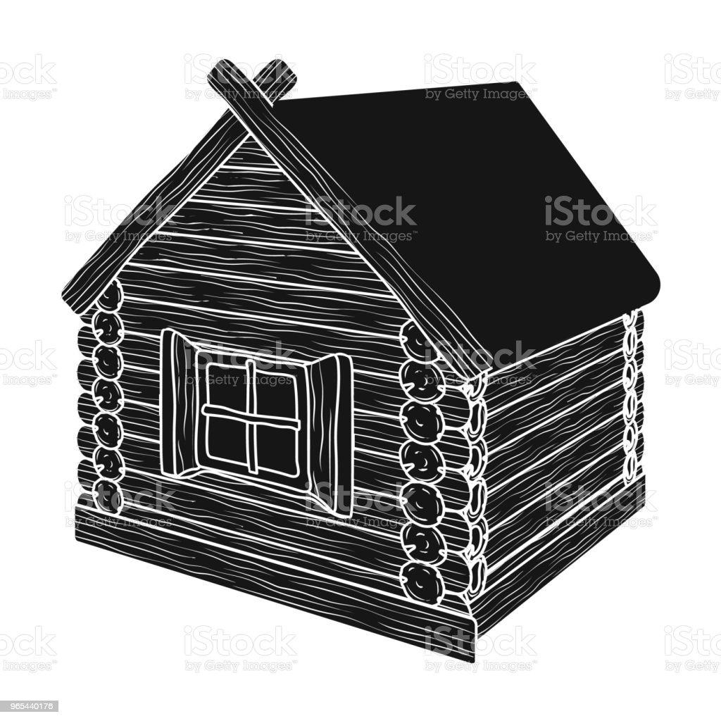 Wooden log cabin. Hut architectural structure single icon in black style vector symbol stock illustration web. wooden log cabin hut architectural structure single icon in black style vector symbol stock illustration web - stockowe grafiki wektorowe i więcej obrazów architektura royalty-free