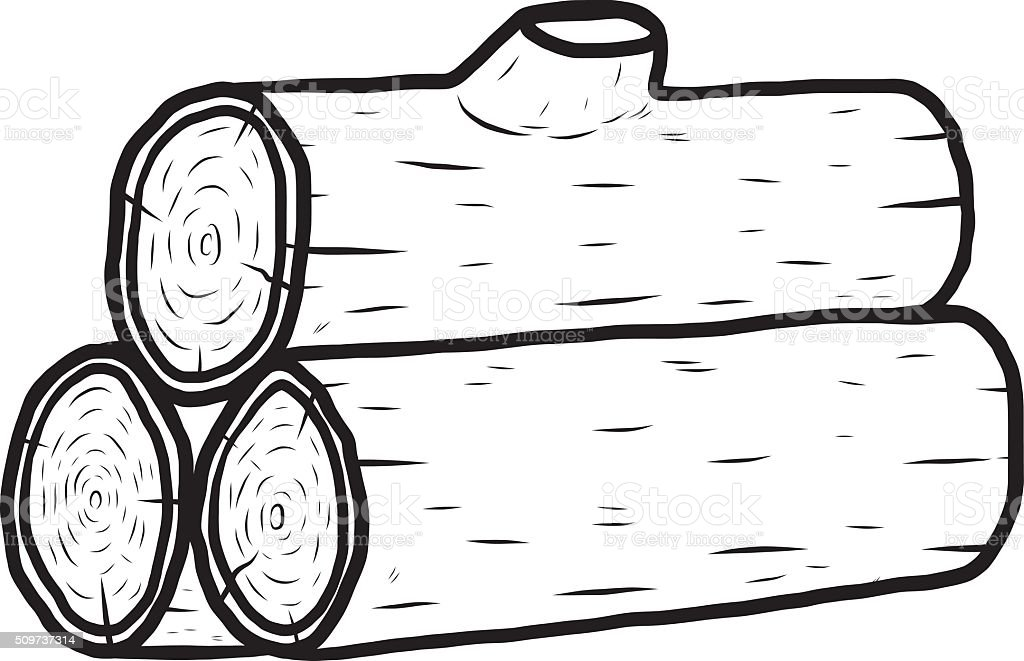 royalty free stack of logs drawing clip art vector images rh istockphoto com log clipart black and white log clipart images