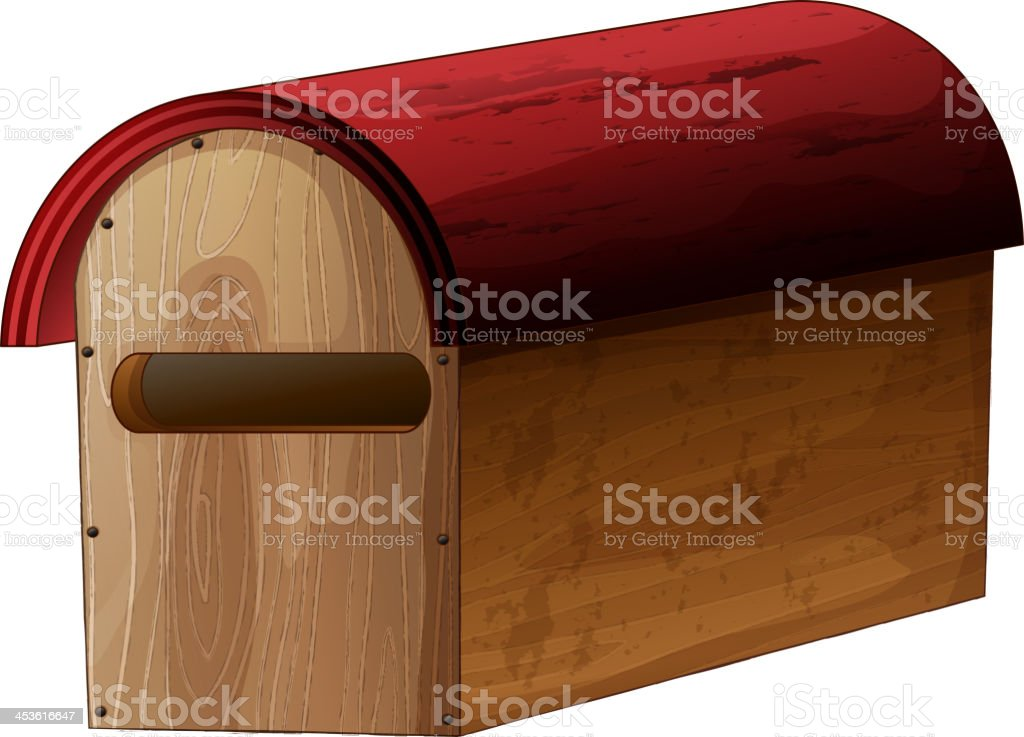 wooden mailbox royalty-free wooden mailbox stock vector art & more images of at the edge of