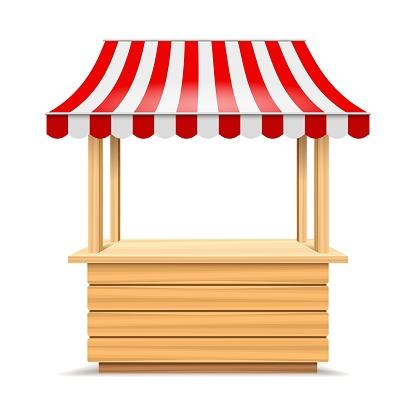 Wooden market stall
