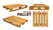 istock Wooden Pallet Different Size Collection Set Vector 1210692936
