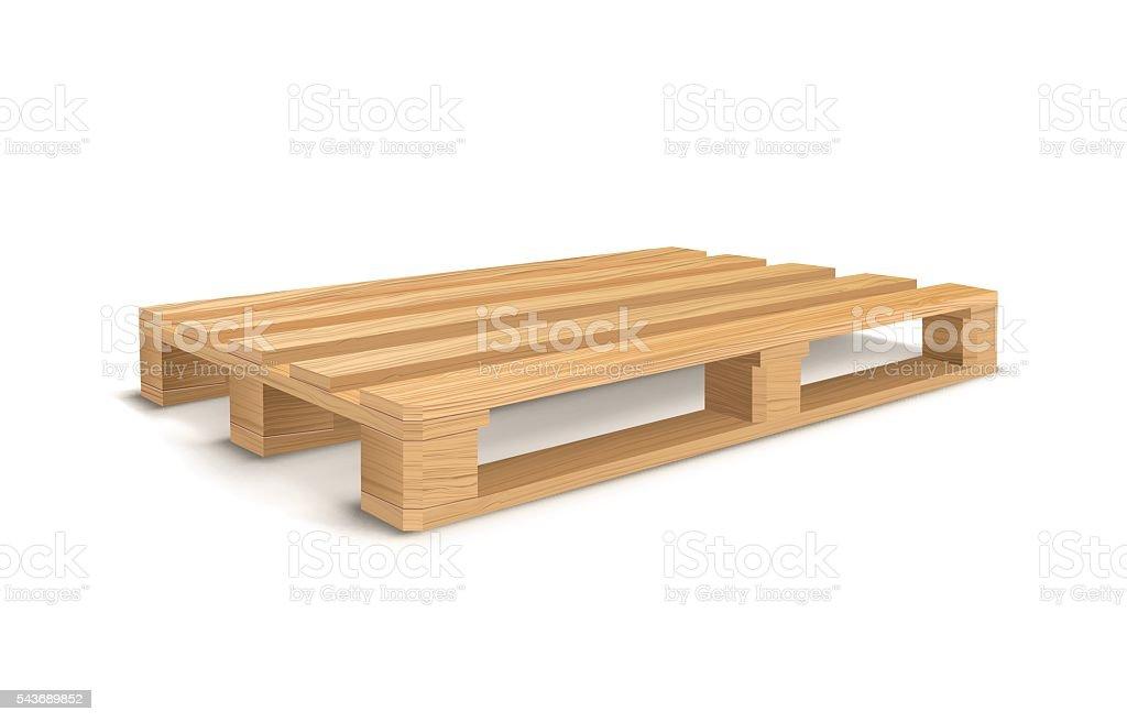 Wooden pallet. vector art illustration