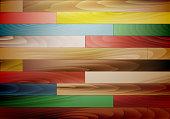 Wooden panel. Texture background of parquet boards.Wood floor tiles. Vector illustration.