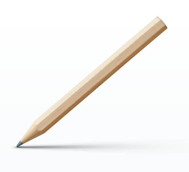 Wooden pencil vector art illustration