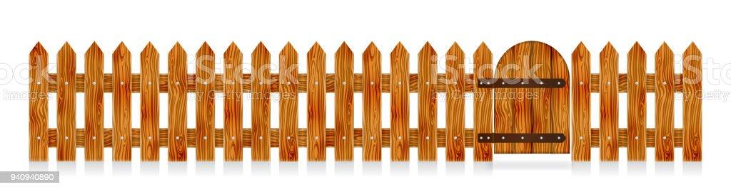 Holzernen Zaun Mit Einem Tor Elemente Fur Landlichen Design
