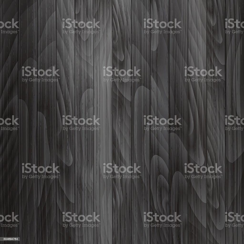 Wooden plank background in dark gray color. Vector texture. vector art illustration