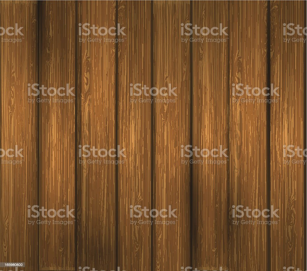 Wooden plank vector art illustration