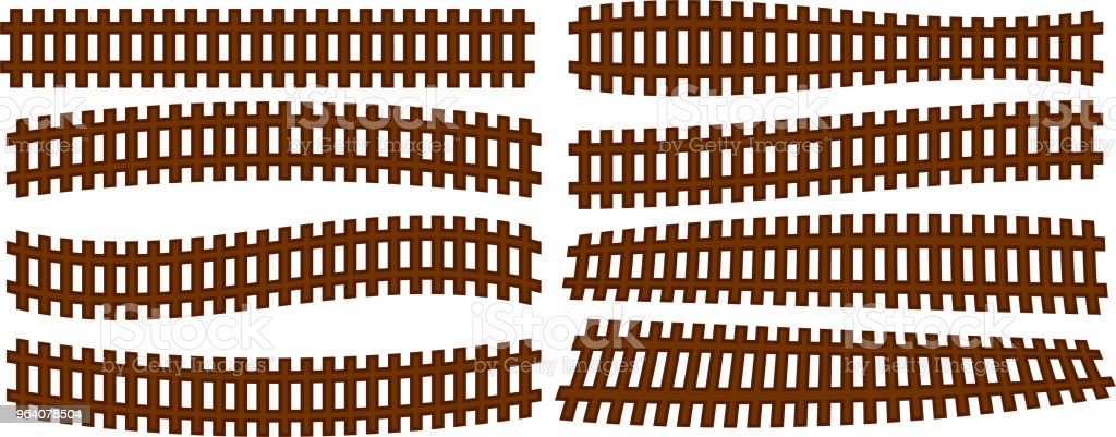 Wooden railroad set - Royalty-free Cable Car stock vector