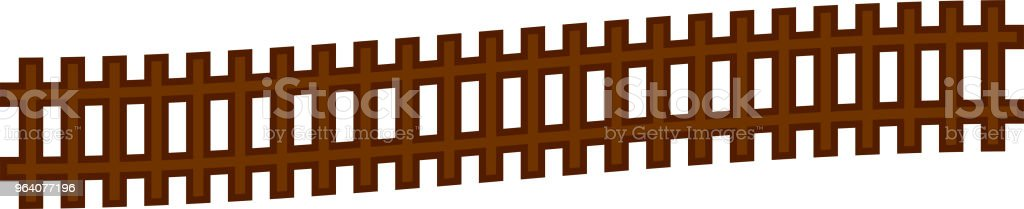 Wooden railroad - Royalty-free Cable Car stock vector
