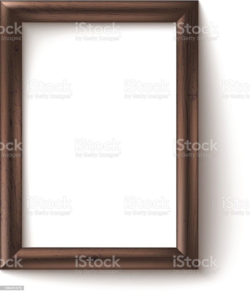 Wooden Rectangular 3d Photo Frame With Shadow Stock Vector Art ...
