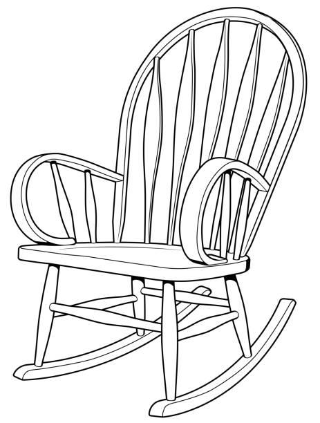 Wooden Rocker vector art illustration