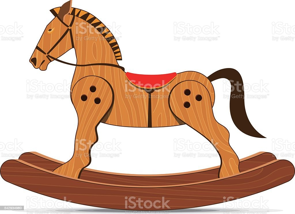royalty free rocking horse clip art vector images illustrations rh istockphoto com rocking horse clipart black and white baby rocking horse clipart