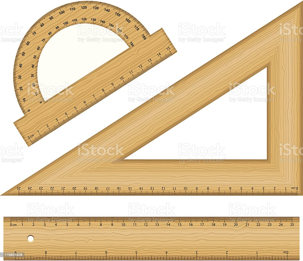 wooden ruler instruments royalty-free stock vector art