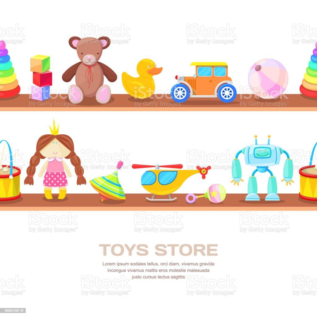 Toy shelf clip art