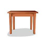 istock Wooden Side Table 1190781508