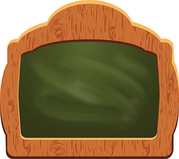 ilustrações de stock, clip art, desenhos animados e ícones de placa de sinal de madeira (chalkboard-objecto isolado) - lian empty
