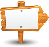 Wooden sign, post, icon, symbol, label