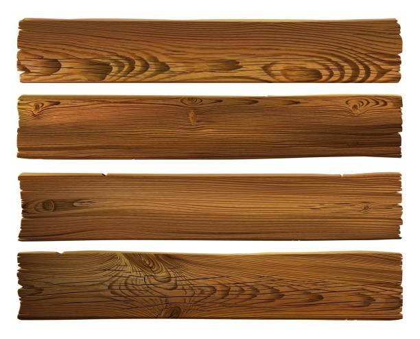 drewniany znak. realistyczne bardzo szczegółowe wektor ciemnobrązowy drewniany grunge poszarpane tle tekstury. ręcznie rysowane, bez śledzenia - deska stock illustrations