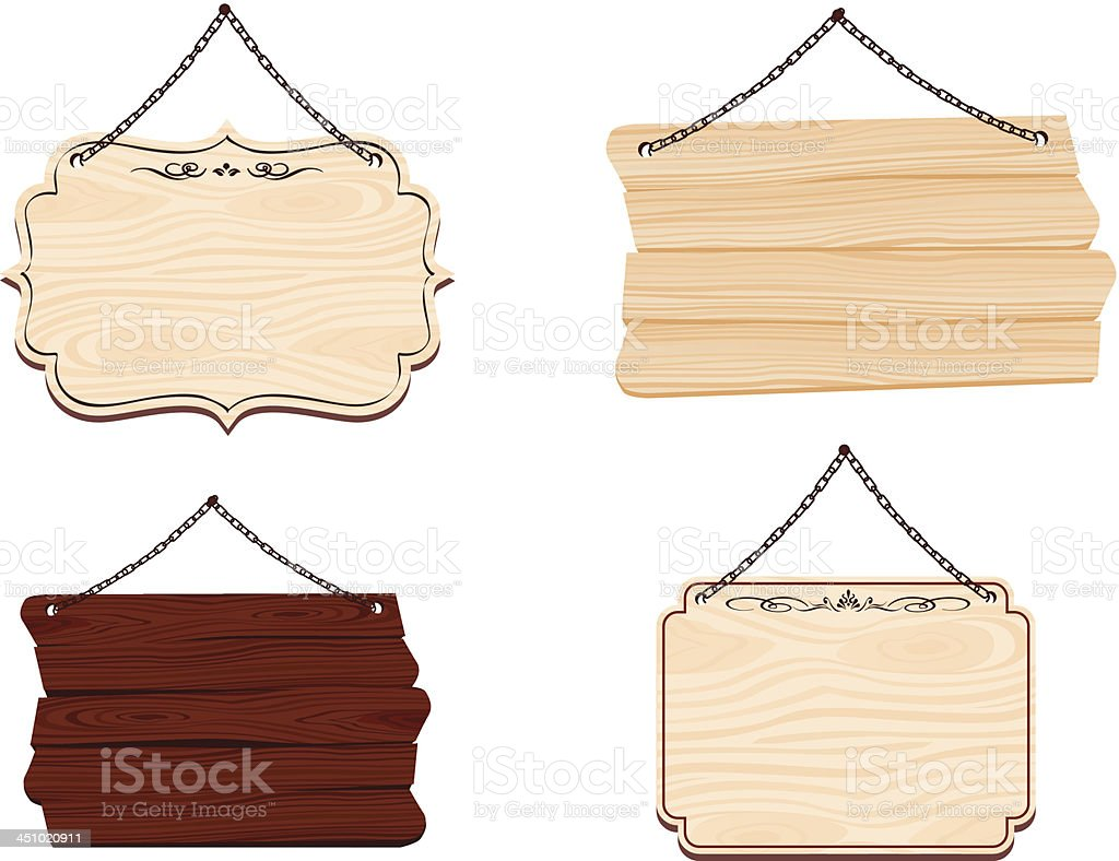 wooden sign Vecter royalty-free stock vector art