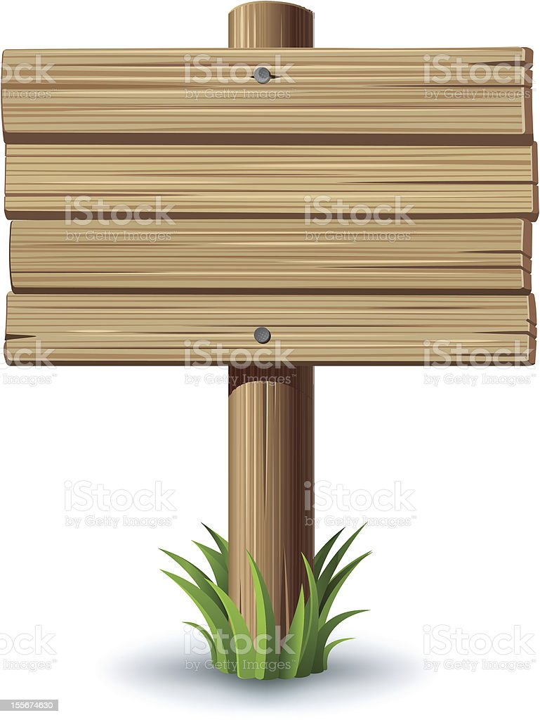 Wooden sign royalty-free stock vector art