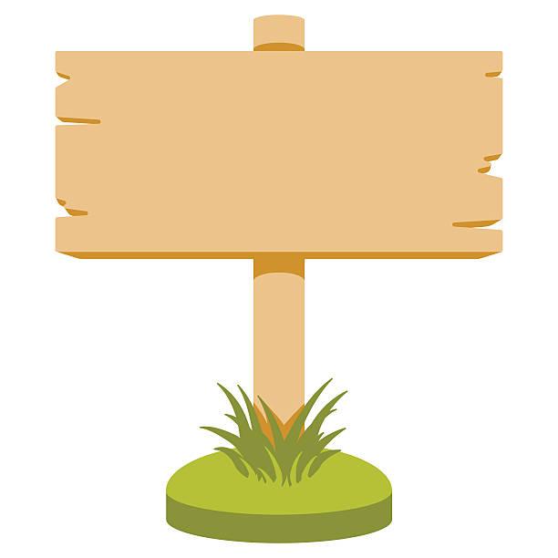 stockillustraties, clipart, cartoons en iconen met wooden sign - wegwijzer bord