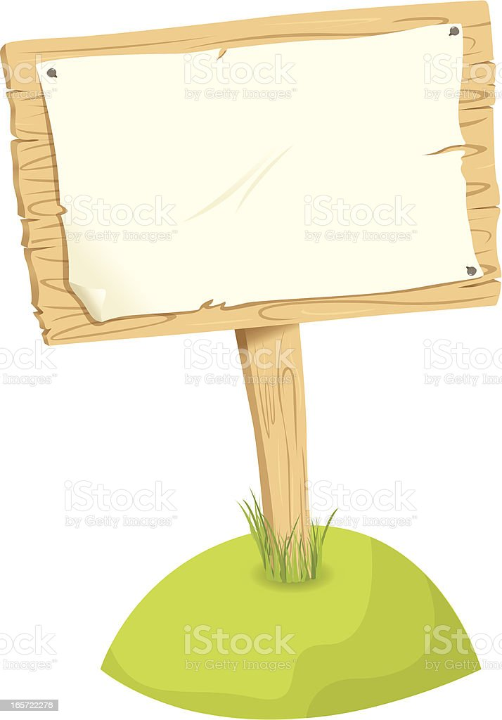 Wooden Signboard royalty-free stock vector art