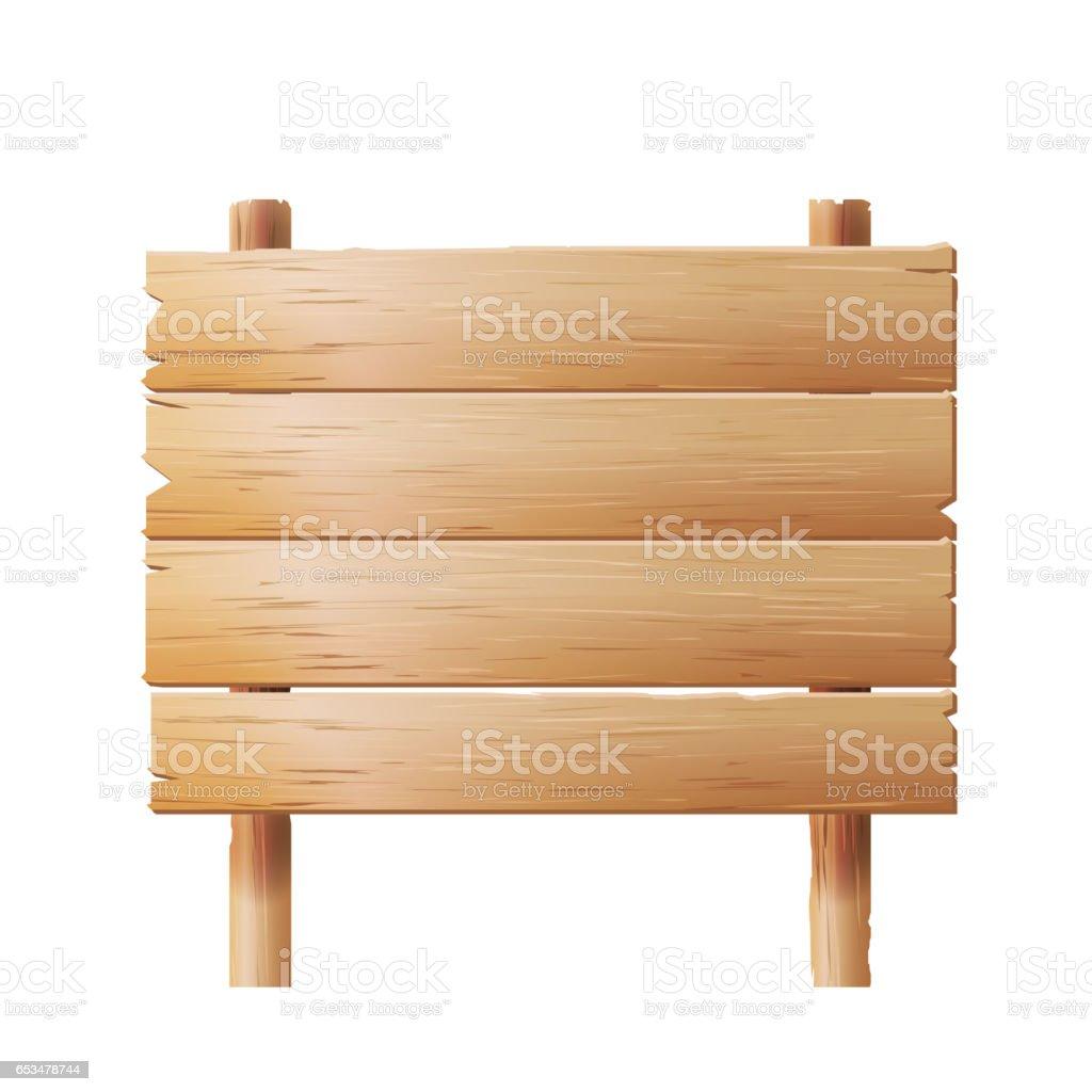 Vecteur de panneaux en bois. Signe géométrique vieux Stand en Style Cartoon - Illustration vectorielle