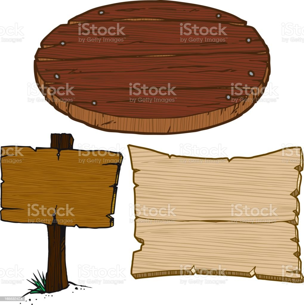 Wooden Signs royalty-free stock vector art