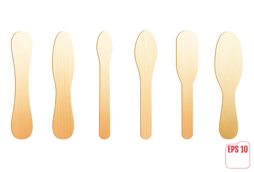 Wooden stick for icecream or medical tongue depressor.