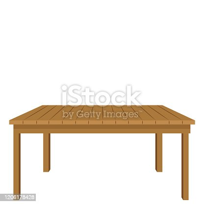 istock Wooden table 1206178428
