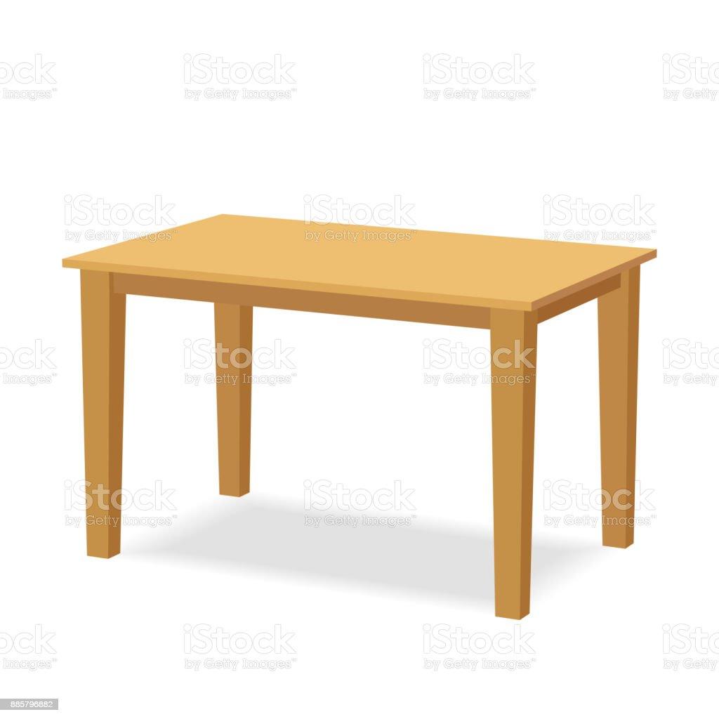 wooden table vector art illustration