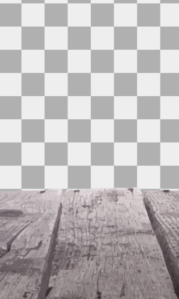 illustrazioni stock, clip art, cartoni animati e icone di tendenza di wooden table with a view of blurred beverages bar backdrop - tavolo legno