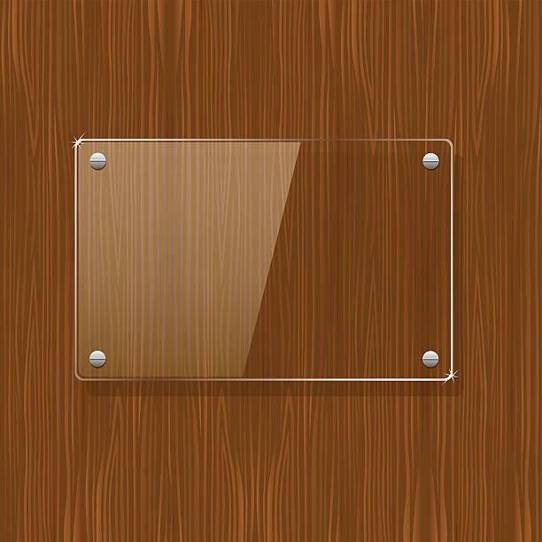 木製の質感とガラスのフレーム - ガラスのテクスチャ点のイラスト素材/クリップアート素材/マンガ素材/アイコン素材