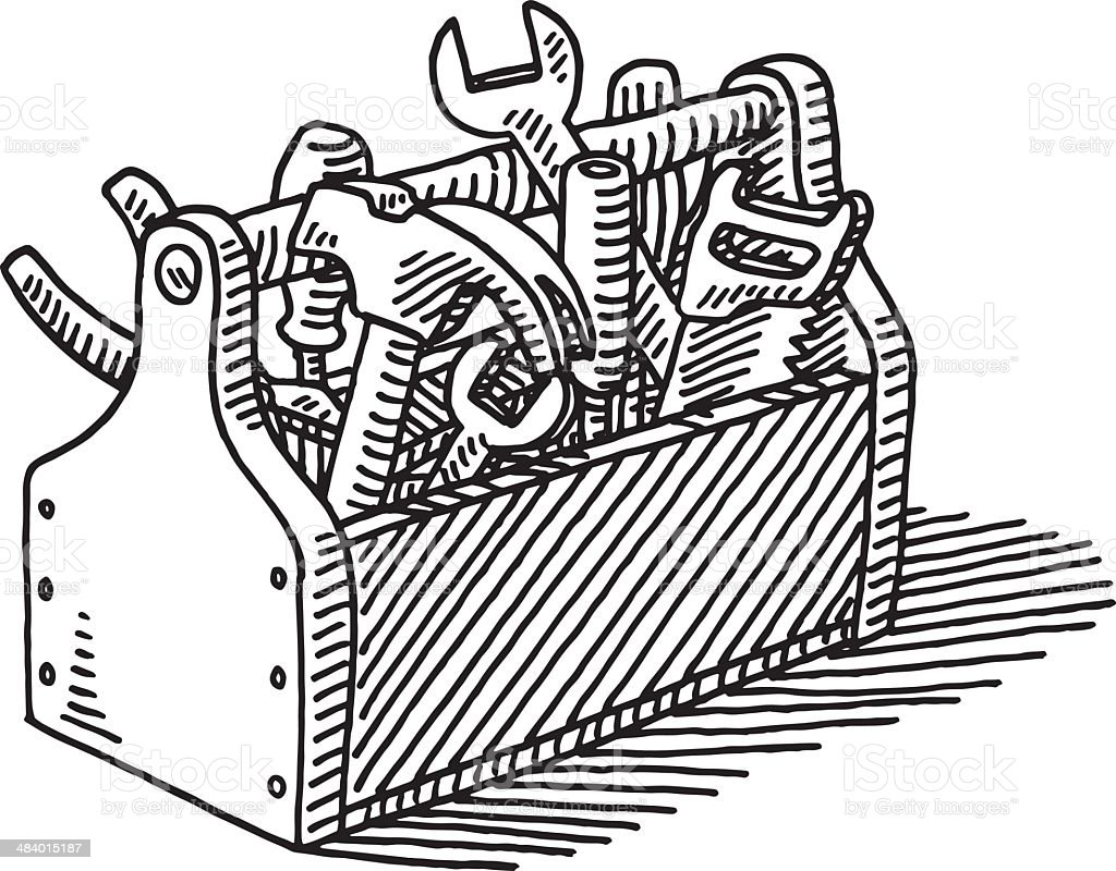 Wooden Toolbox Drawing...