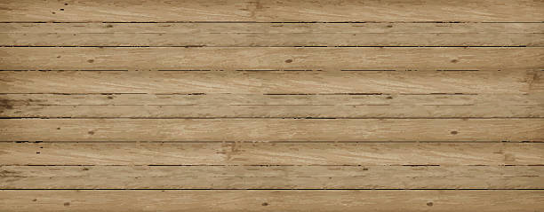 stockillustraties, clipart, cartoons en iconen met wooden vector background texture - plank timmerhout