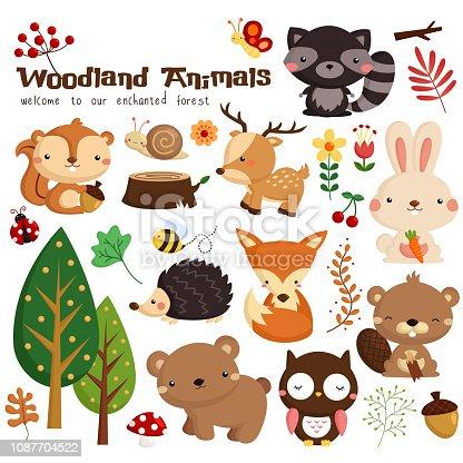 many woodland animal in a single image