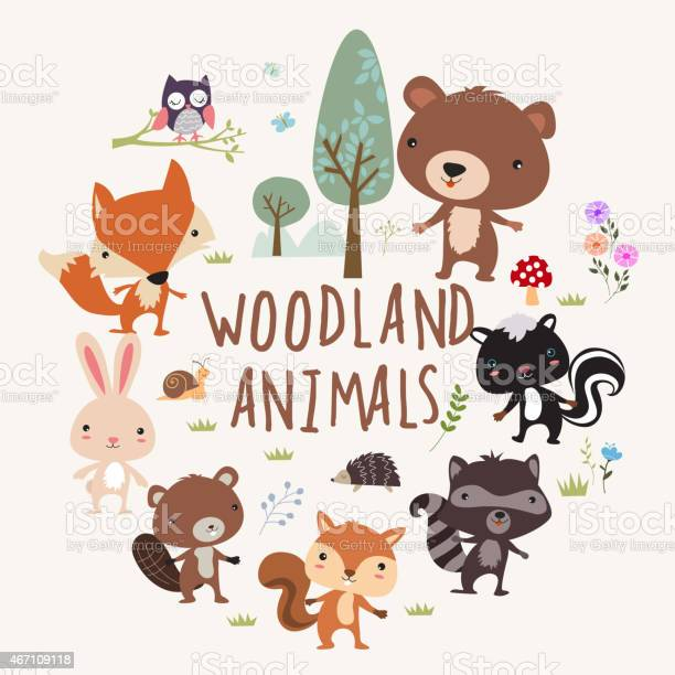 Woodland animals vector id467109118?b=1&k=6&m=467109118&s=612x612&h=jhlhjldlyieaq lhpxsky basjh gfufhakts1hlt5m=