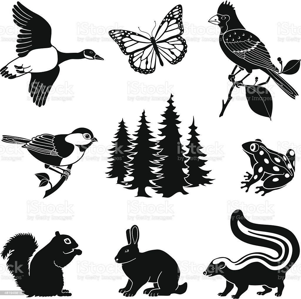 森の動物 - アイコンのベクターアート素材や画像を多数ご用意 481945815