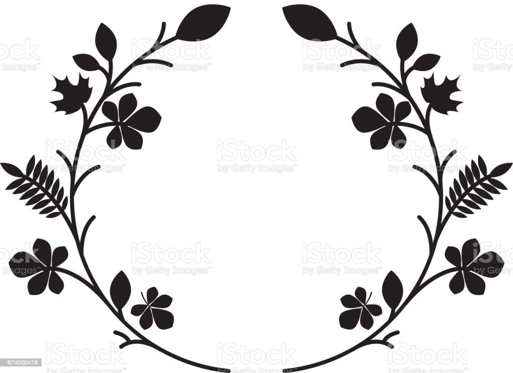woodland floral decorative icon royalty-free woodland floral decorative icon stock vector art & more images of animal wildlife