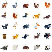 Woodland forest animals