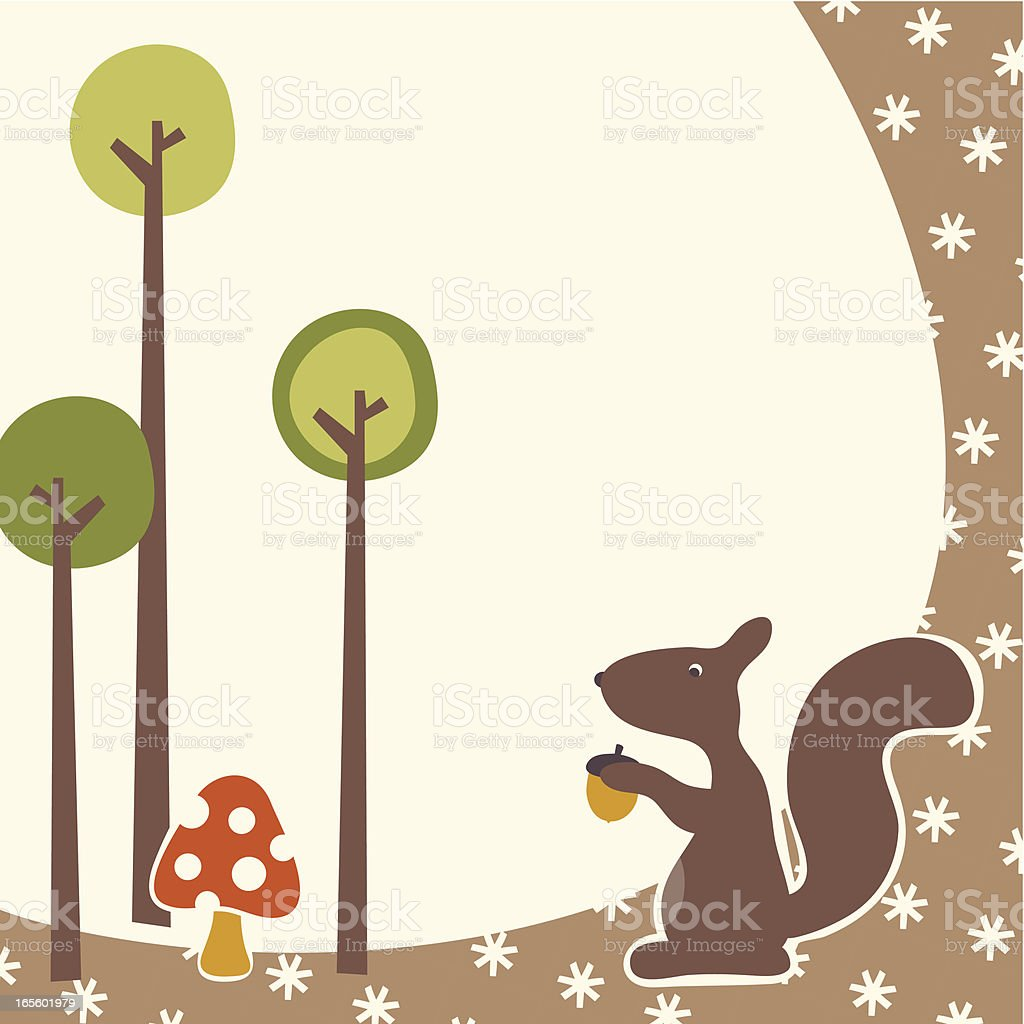 Woodland royalty-free stock vector art