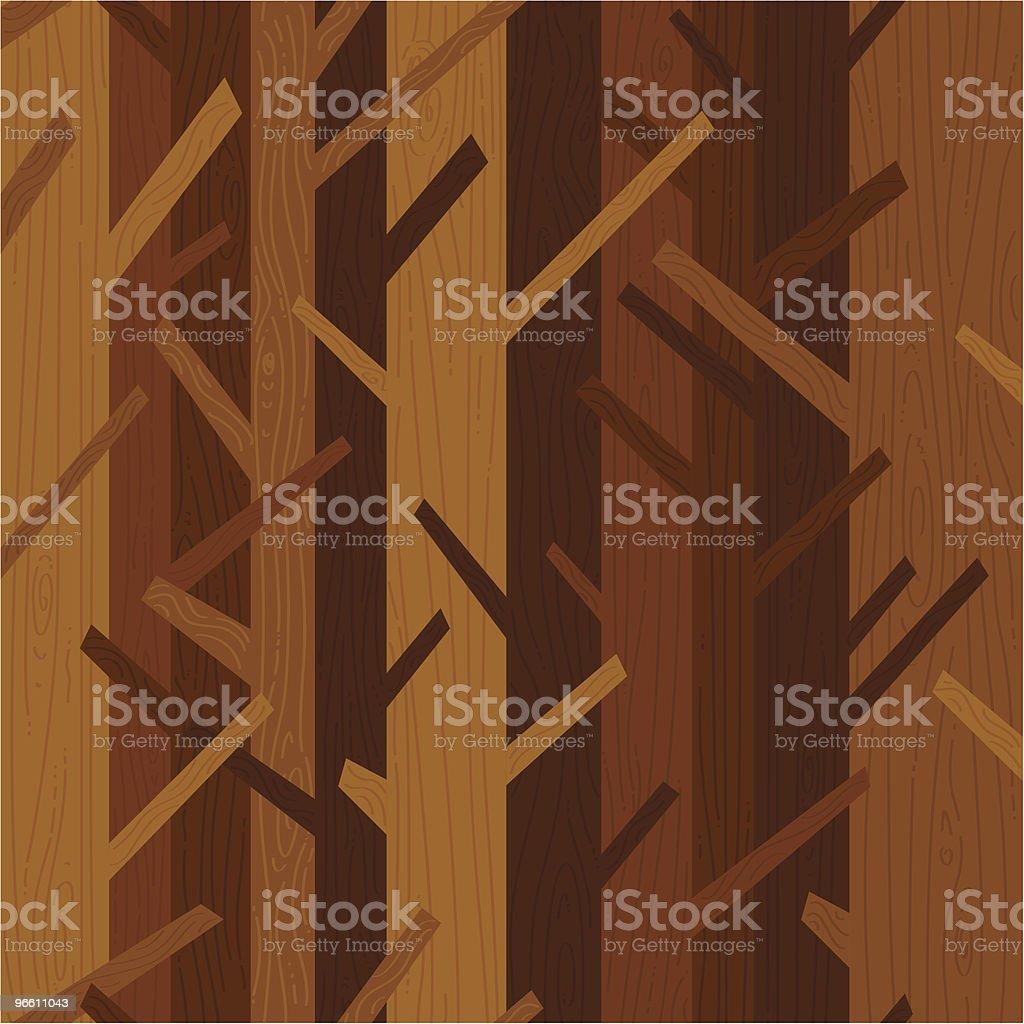 woods background vector art illustration
